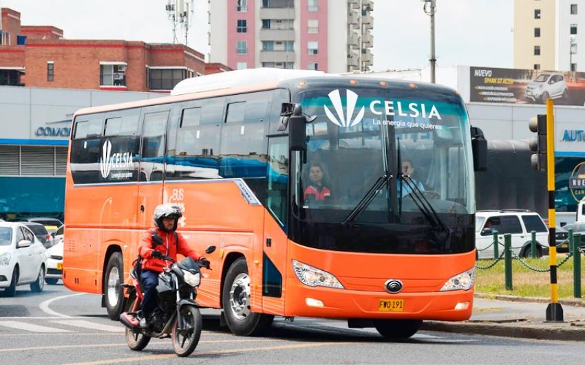 Celsia pone a rodar su primer bus eléctrico en el Valle para movilizar a colaboradores