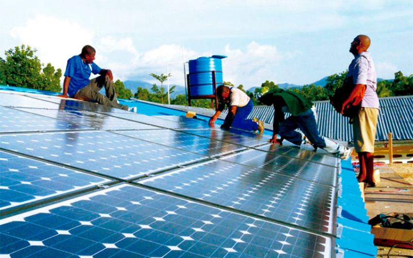 Hospital de niños en Haití  funciona con energía solar.