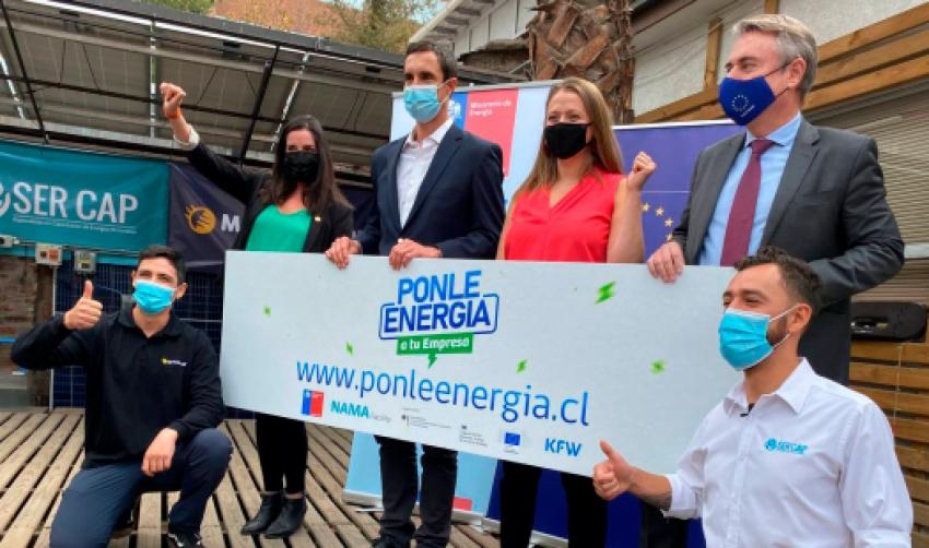 Chile y Unión Europea, lanzan concurso para subsidiar proyectos de energías renovables en empresas
