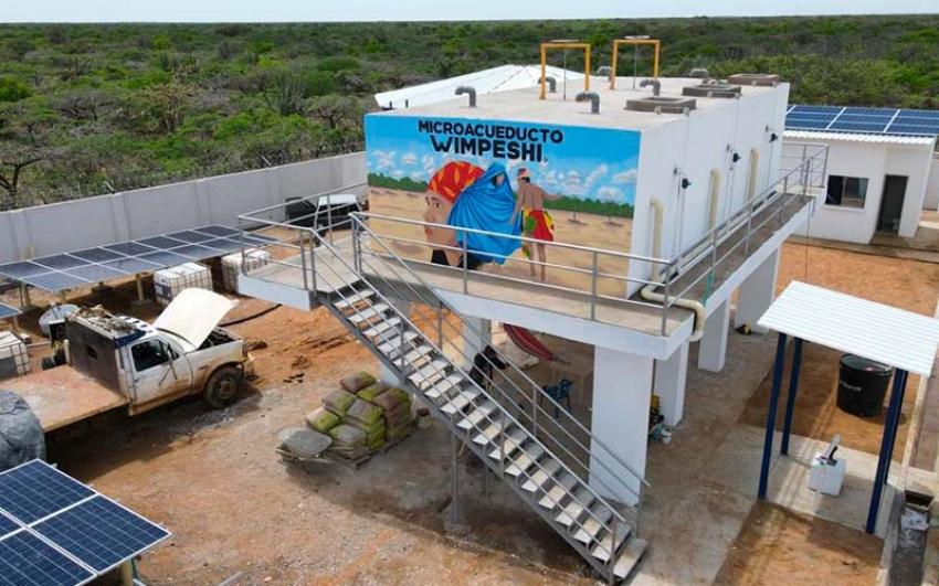 Enel-Emgesa entregó las pilas públicas para abastecimiento de agua a indígenas wayuu