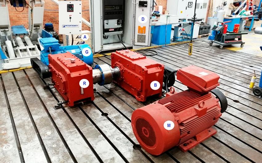 Prueba de carga para reductores eólicos