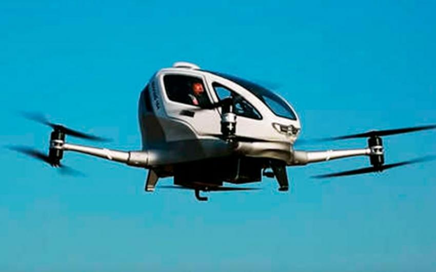 En China, se lanza un vehículo volador inteligente impulsado por energía eléctrica