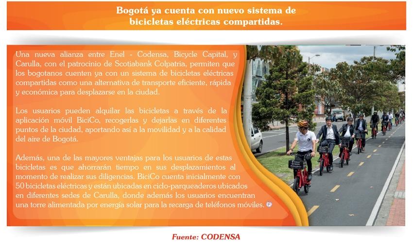 Bogotá ya cuenta con nuevo sistema de bicicletas eléctricas compartidas.