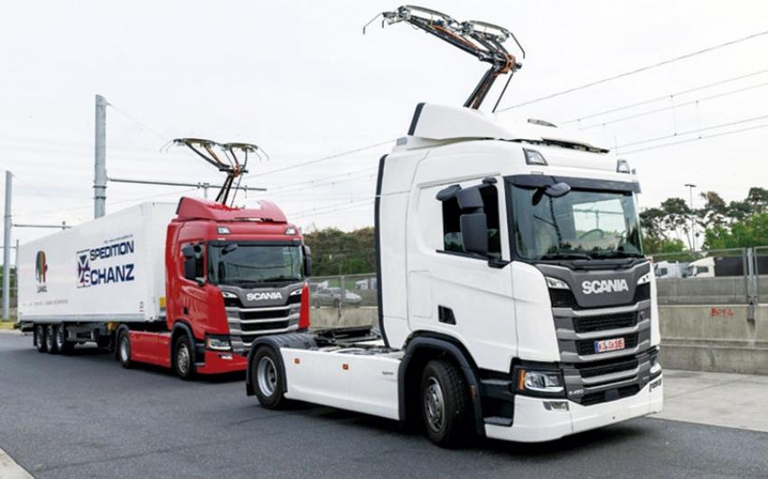 """En Alemania se inauguró la primera """"autopista eléctrica"""" para camiones híbridos"""