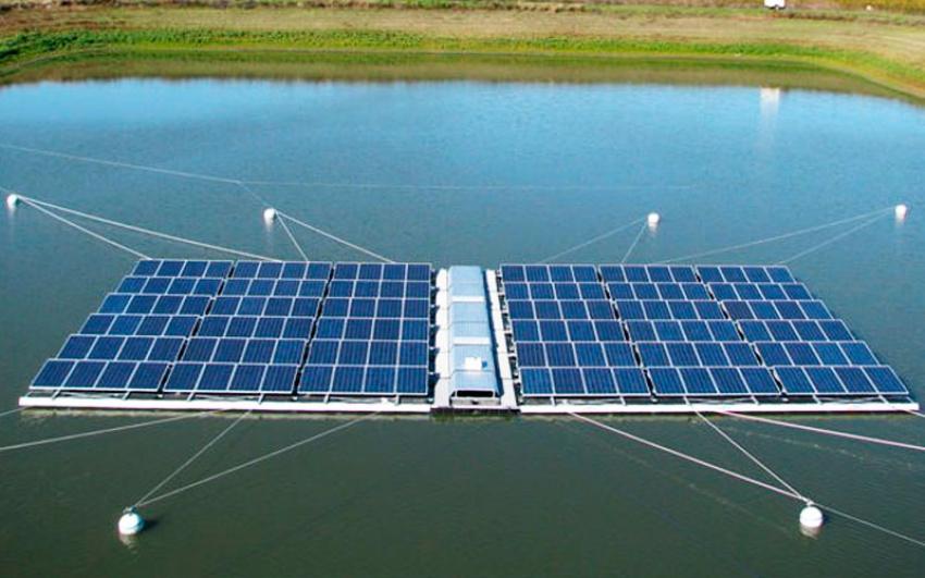 El agua se convierte en la nueva tierra para plantas solares en la India